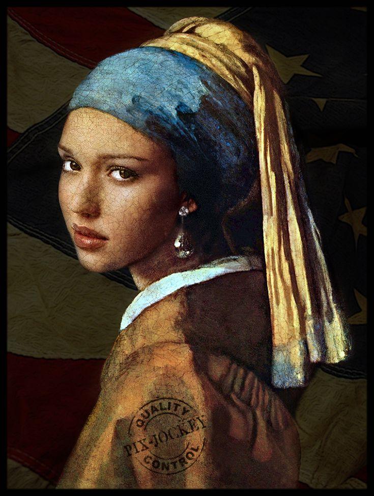 https://flic.kr/p/8Rv9YT | JESSICA ALBA by Vermeer (my artistic fake!) | Basato sul celebre ritratto di Jan Vermeer: LA RAGAZZA CON L'ORECCHINO DI PERLA.