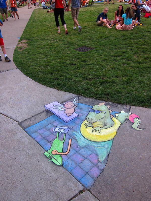 Diving for pigs only Ann Arbor Summer Festival Installations, 2012-2014 - David Zinn