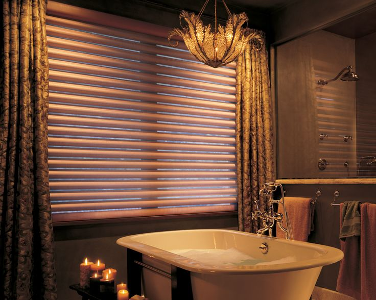 Web Image Gallery Hunter Douglas Pirouette Window Shadings in Bathroom