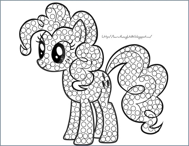 P is for Pony Laura Thoughts: My Little Pony Q-Tip Painting