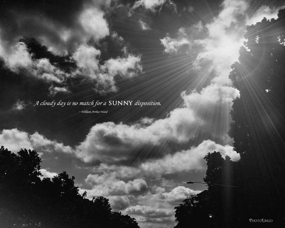 Gorgeous 8x10 black and white nature photo print with famous quote by william arthur ward