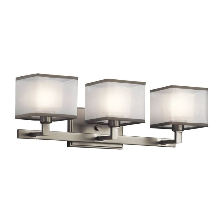 Shop Kichler Lighting 3 Light Kailey Brushed Nickel