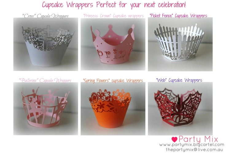 Wide range of cupcake wrappers available