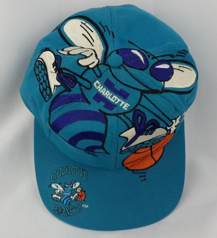 Charlotte Hornets Vintage Snapback The Game Big Logo Hat NBA Rare Cap Starter