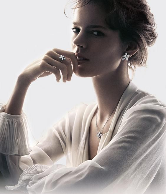 Freja Beha Erichsen for the most recent Harry Winston Campaign