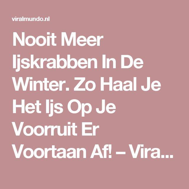 Nooit Meer Ijskrabben In De Winter. Zo Haal Je Het Ijs Op Je Voorruit Er Voortaan Af! – Viralmundo