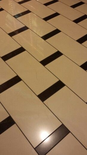 Elegant tiling.  This pattern is non-imposing, bold, beautiful, and simple!