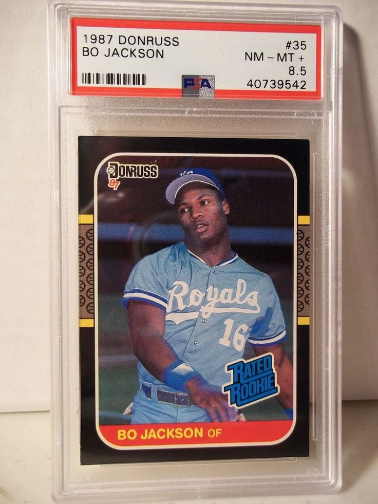 1987 donruss bo jackson rookie psa nmmt 85 baseball