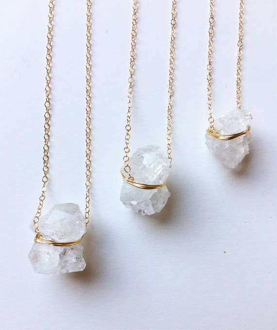 Vanilla Ice Crystal Gold Necklace OOAK by friedasophie on Etsy