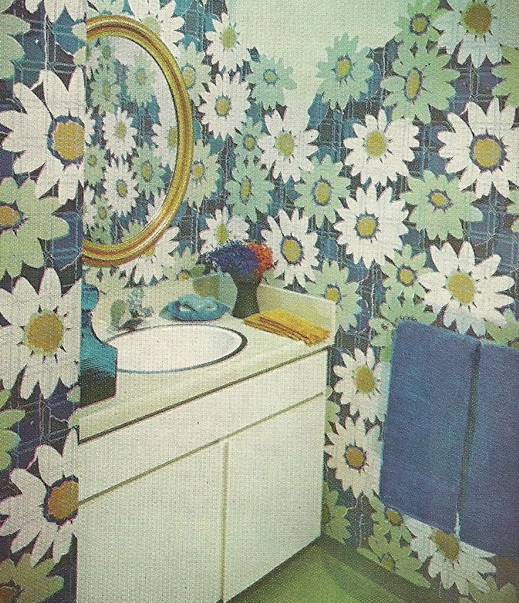 Late 60 S Bathroom I M Kind Of Lovin That Wallpaper