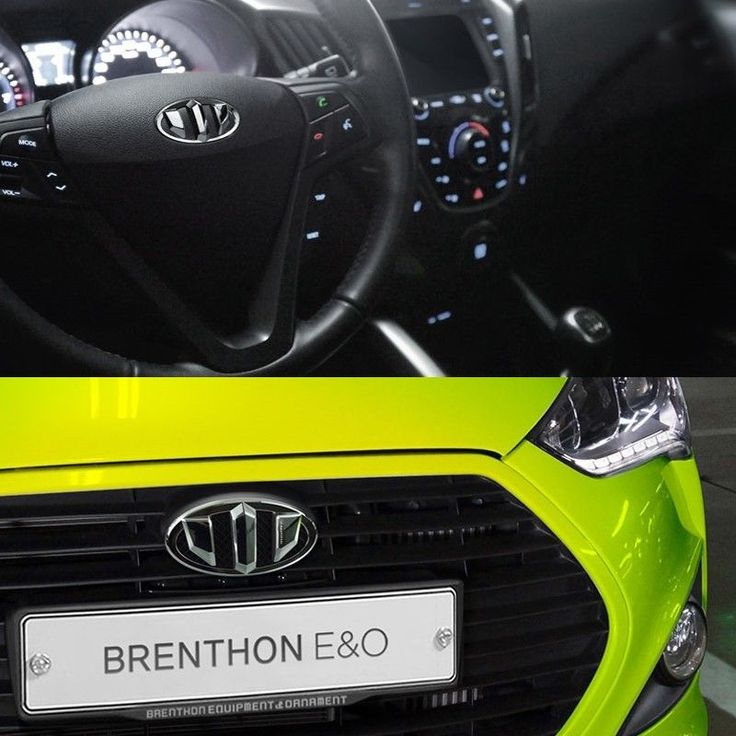 BRENTHON Horn Cap Front & Rear New Emblems 3 pcs for Hyundai Veloster Turbo #BRENTHON