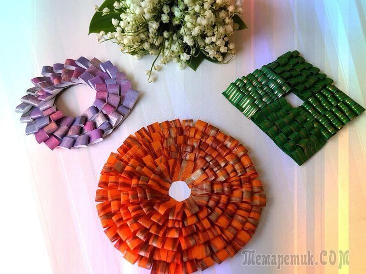 Очень легко и просто делаем из отдельных модулей замечательную декорацию.Для изготовления нам понадобятся: Цветная бумага (обложка журнала, бумажные подарочные пакеты и т.д.)КлейНожницыКартонТакая раб...