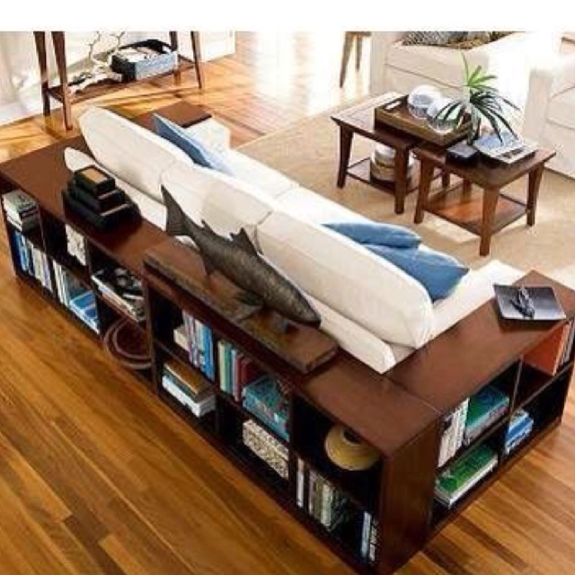 I like the bookcases around the couch!