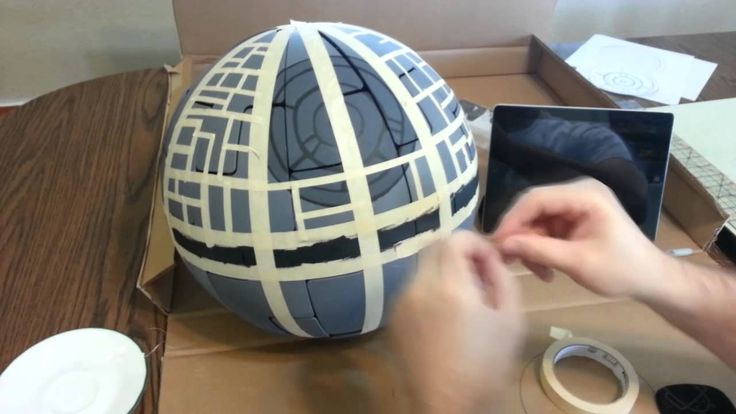 I've taken the IKEA PS 2014 Pendant lamp and painted it to look like the Death Star! Music found at Incompetech.com by Kevin MacLeod