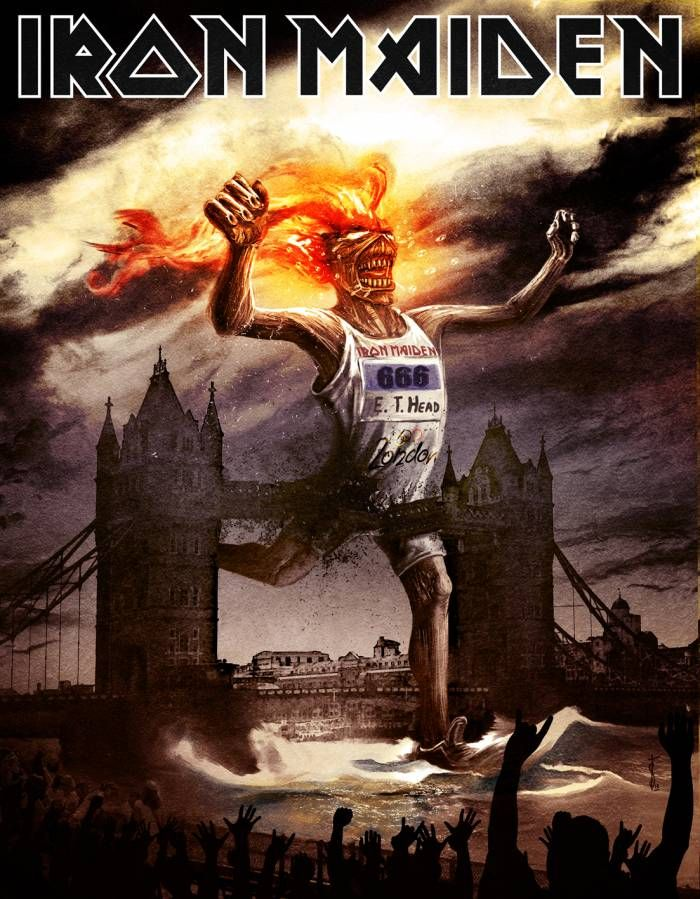 Let the games begin! Non-oficial Iron Maiden's Eddie at London 2012 Olympics, by Stan-w-d