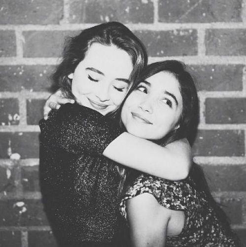 Sabrina Carpenter Rowan Blanchard Hugging