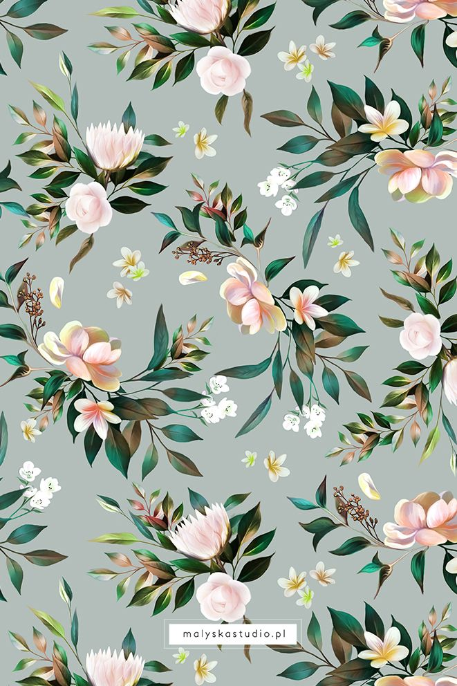 Beautiful Delicate Seamless Floral Pattern Floral Pattern Wallpaper Floral Print Wallpaper Flower Pattern Design