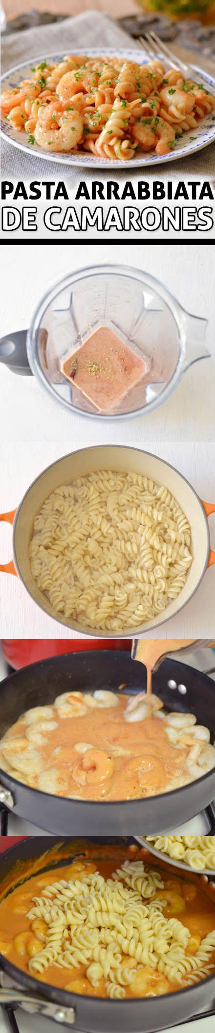 Demuestra cuánto te gusta la comida italiana siguiendo esta fácil receta de pasta con camarones en salsa arrabiata. ¡Sabrosa, suculenta y baja en calorías!