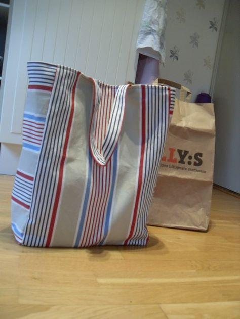 Matkassen är utformad för att du på bästa sätt ska kunna bära hem dina matvaror. Så därför har jag tagit måtten på en matkasse för att kunna sy den ultimata matkassen.  mät upp (lägg till…