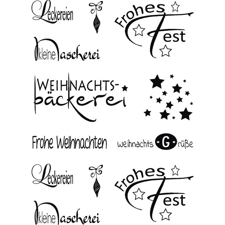 "Clear Stamp Set ""Weihnachten"""