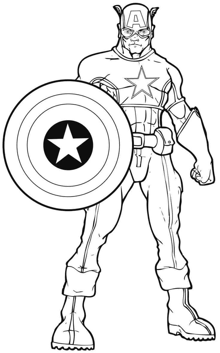 Free Captain America Coloring Pages With To Print Archives