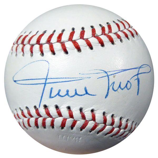 Hank Aaron Willie Mays Autographed Baseball Psa Dna Ab08891 Autographed Baseballs Hank Aaron Willie Mays