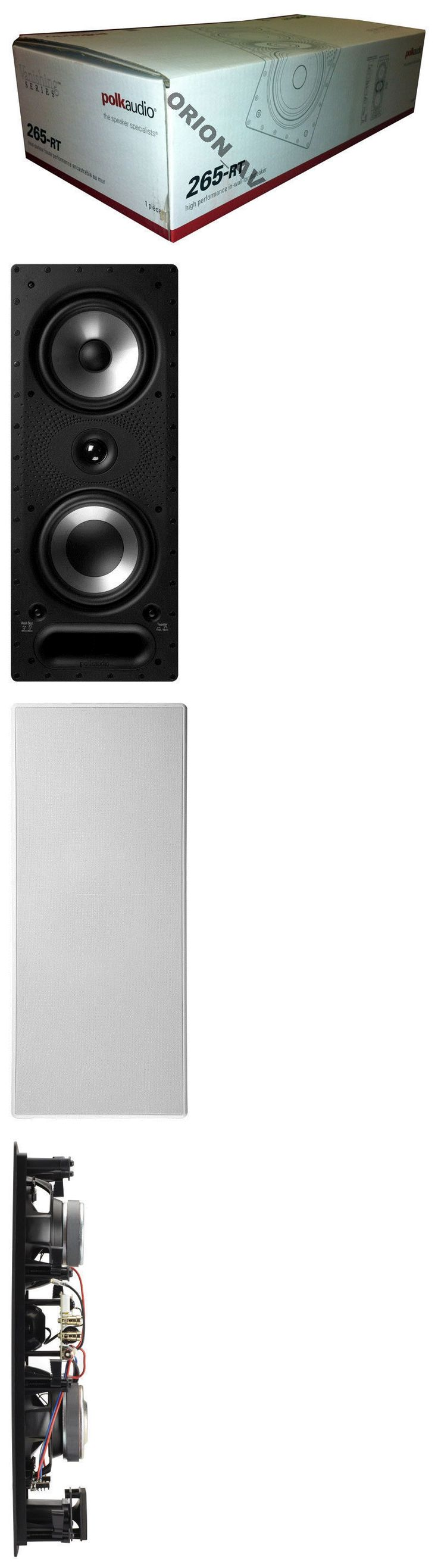 Home Speakers and Subwoofers: Polk Audio 265-Rt 3-Way Rectangular In Wall Speaker White (Each) 265Rt Brand New -> BUY IT NOW ONLY: $199 on eBay!