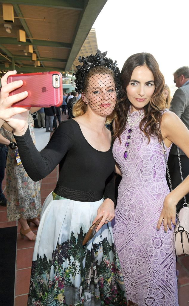 Elizabeth Banks & Camilla Belle from Party Pics: Global  The actresses take a selfie at the 2016 Breeders' Cup World Championships at Santa Anita Park in Arcadia, California.