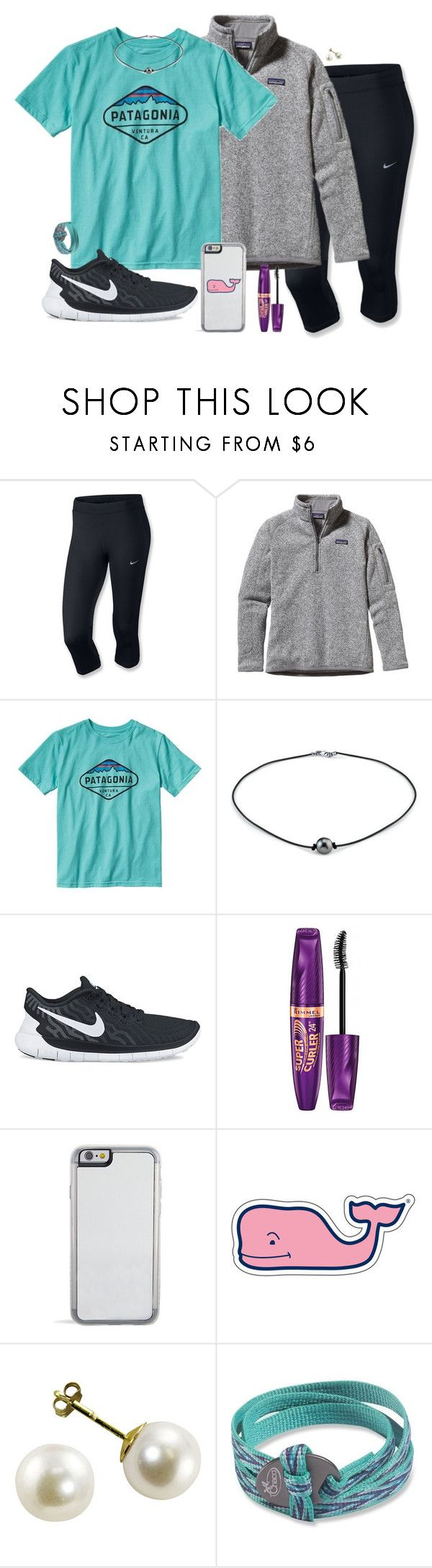 """cute pics at chewacla"" by madixoxo21 ❤ liked on Polyvore featuring NIKE, Patagonia, Rimmel, Vineyard Vines, Chaco, women's clothing, women's fashion, women, female and woman"