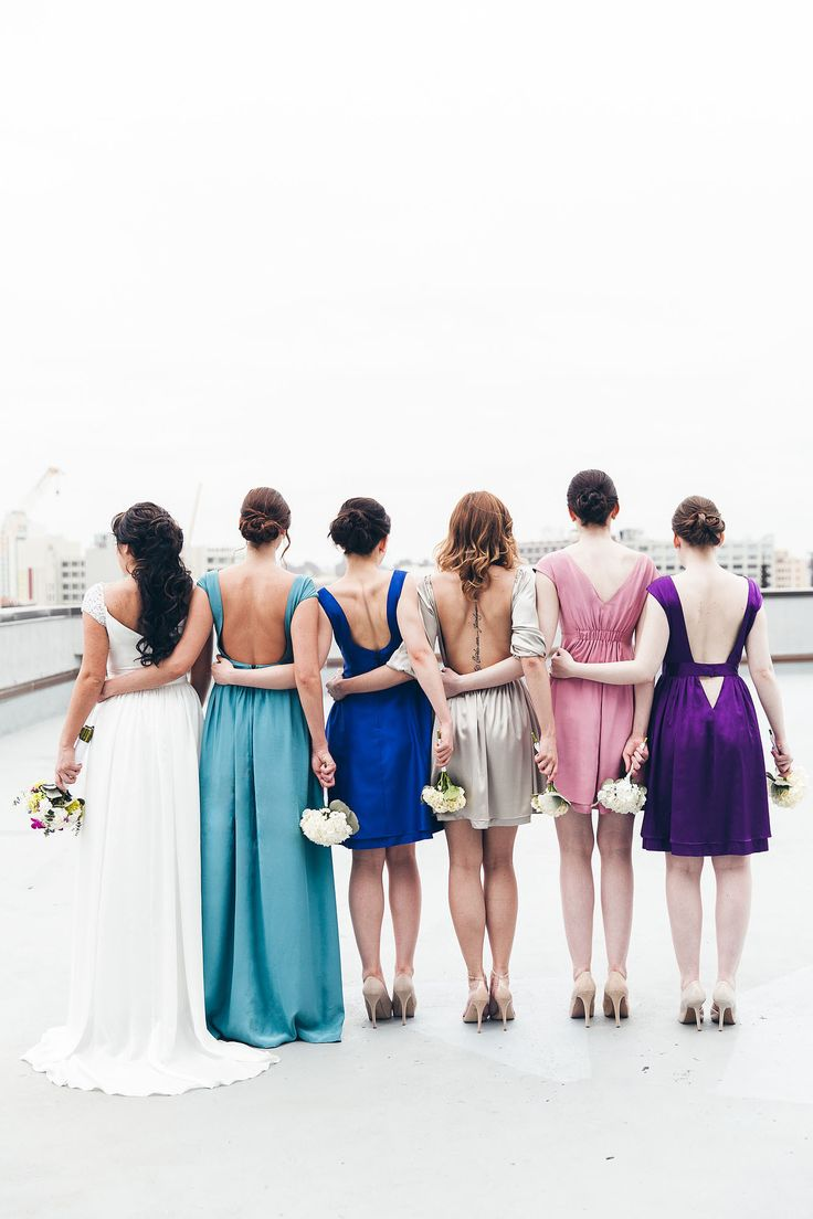 Matching Bridesmaids Dresses  Wave goodbye to: Cookie-cutter bridesmaids.  Say hello to: Giving your bridesmaids flexibility to choose a dress that works with their budget and body shape. You can pick a color and style requirement, such as a long purple dress, but let them choose a dress that they feel good in. If they are paying for the dress, then it's not fair to make them pay for a gown they will only wear once.