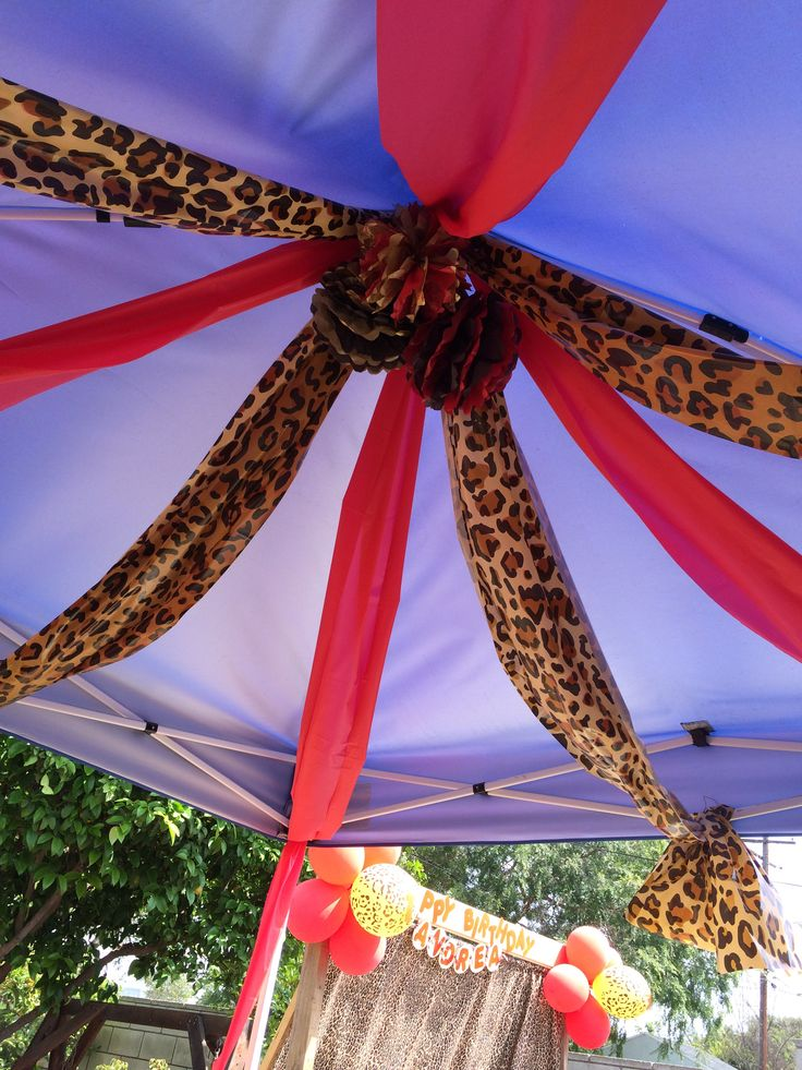 Cheetah party decor