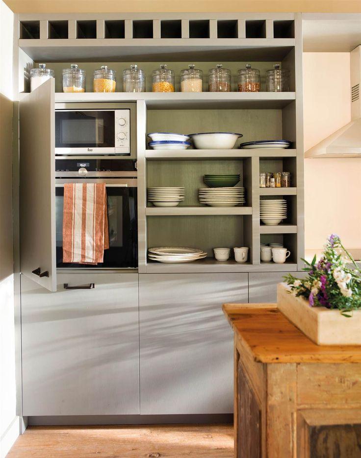 Las 25 mejores ideas sobre armario para microondas en - Microondas muy pequenos ...