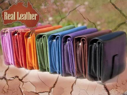 PALM SIZE LADIES LEATHER WALLET BIFOLD WITH CLASP, COIN POCKET384