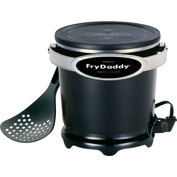 Presto®: - FryDaddy® electric deep fryer - Black