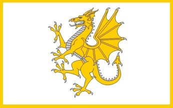 Y Ddraig Aur , the Golden Dragon  The battle flag of Owain Glyndŵr, the last native Welshman to hold the title Prince of Wales, raised over Caernarvon during the Battle of Tuthill in 1401.