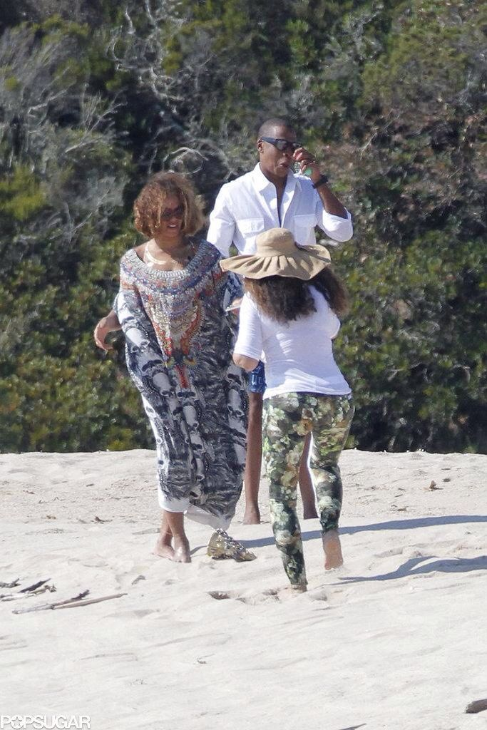 Beyonce, Jay Z & Blue Ivy celebrating her 33RD birthday in