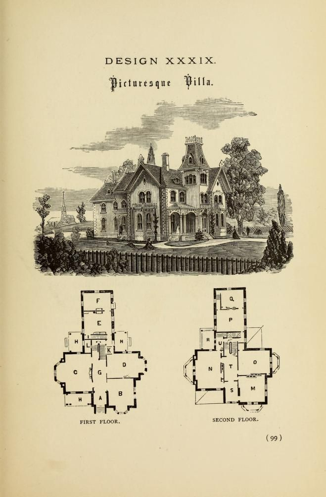 Hobbs S Architecture Containing Designs And Ground Plans For Villas Cottages And Other Edifices Both Subu Vintage House Plans How To Plan Modern Floor Plans