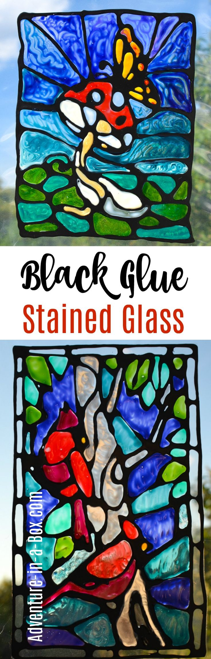 Make imitation stained glass with black glue! Try this unique craft technique with kids and create numerous window decorations and suncatchers. I've tried many different ways of making imitation stained glass. I have never tried the real thing, true, what with all my other crafting hobbies, but have always liked to paint the odd design …