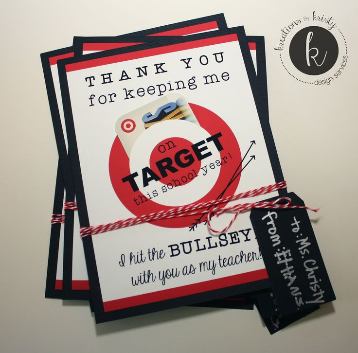 "more than 9 to 5...my life as ""Mom"": Teacher Gift Idea: Target Gift Card Holder {with free printable}"