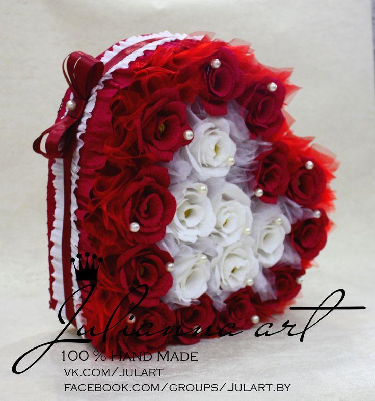 Candy Flowers LOVE. Букет из конфет. Сердце из конфет. Подарки для любимых.Оригинальное признание в любви.