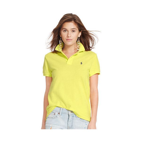 Polo Ralph Lauren Classic-Fit Polo Shirt (330 HRK) ❤ liked on Polyvore featuring tops, classic fit shirt, embroidered shirts, yellow polo shirt, embroidery shirts and ralph lauren shirts