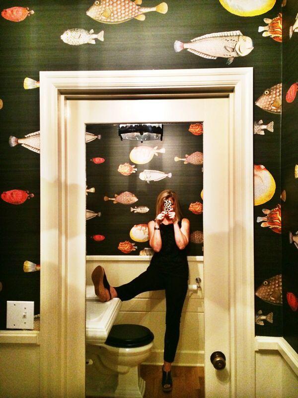 25 best ideas about fish wallpaper on pinterest koi for Funky bathroom wallpaper ideas