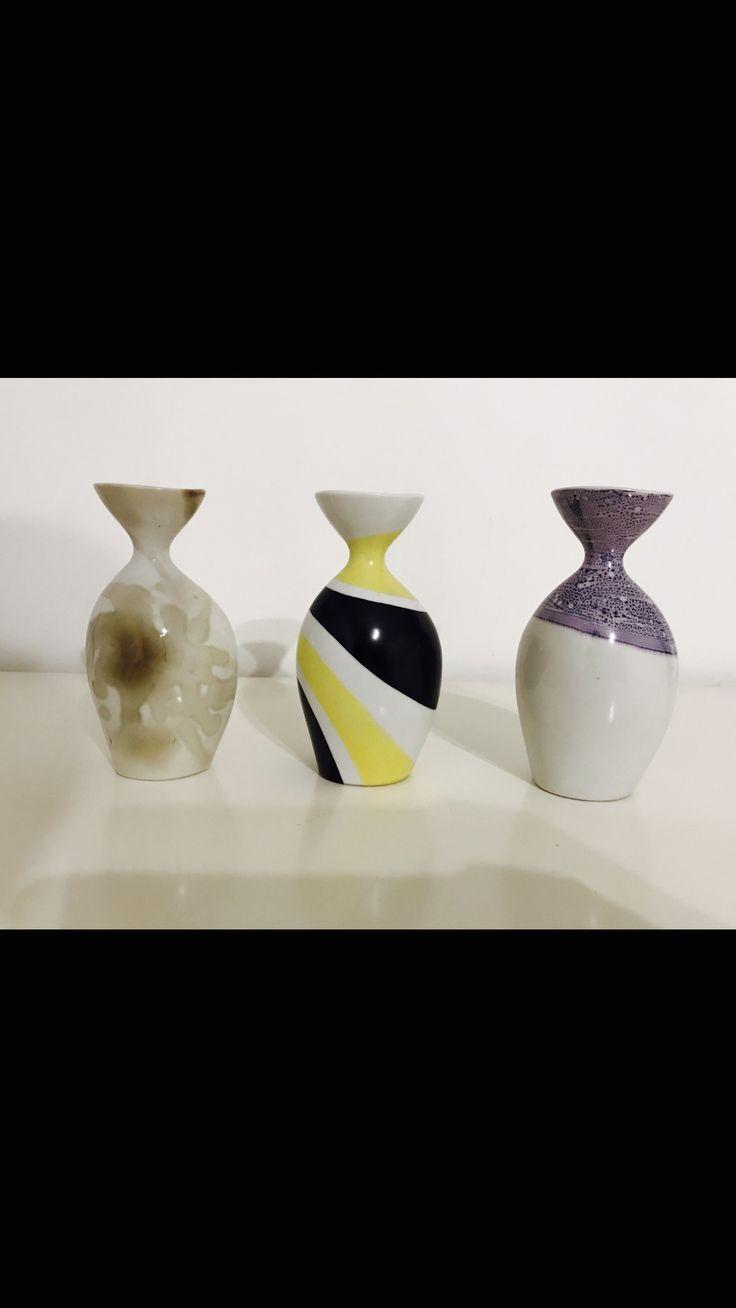 Zsolnay modern vases , Fürtös