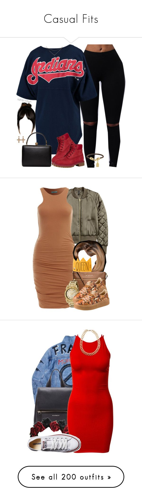 """""""Casual Fits"""" by heavensincere ❤ liked on Polyvore featuring Timberland, Alexander McQueen, Louis Vuitton, GUESS by Marciano, MICHAEL Michael Kors, Invicta, Puma, Givenchy, Converse and Motel"""