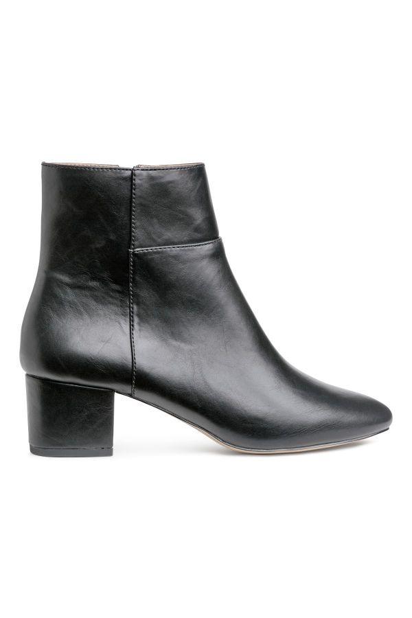 Ankle Boots | Black | WOMEN | H&M US | shoes | Black leather