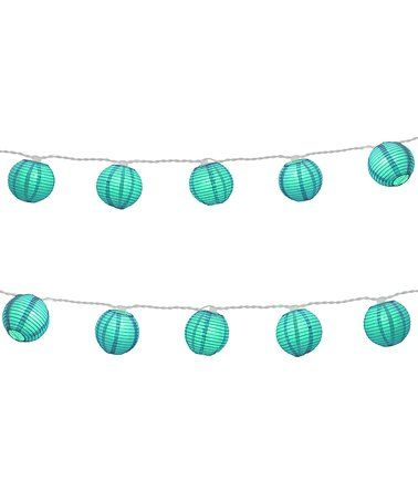 Love this Turquoise Nylon Paper Lantern String Lights - Set of 10 on #zulily! #zulilyfinds