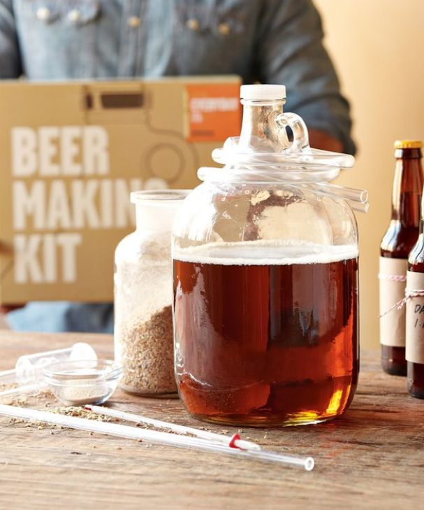 Beer me! This beer making kit might make for a great gift for my dad or brother...love this idea! #affiliate #beer #beerme #beermaking #giftsforhim #giftidea #craftbeer