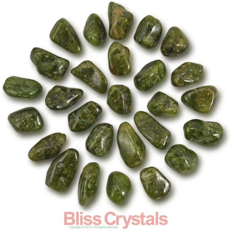 3 Gem VESUVIANITE Tumbled Stones Small California Jade Idocrase Crystal
