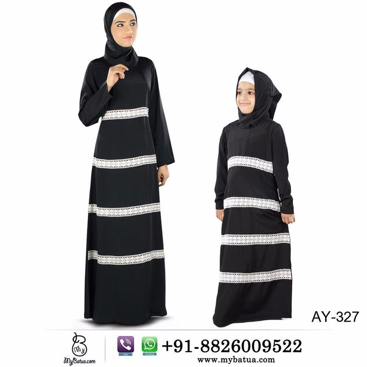 Buy now---> Whatsapp: +91-8826009522 (#worldwide) #Fara #Black #Crepe #Women and #Kids #Abaya | #kidsabaya #abayadress #jilbab #hijab #muslimdress #kidsdress #abayashop #casualabaya #blackabaya #burkha #burqa #mybatua