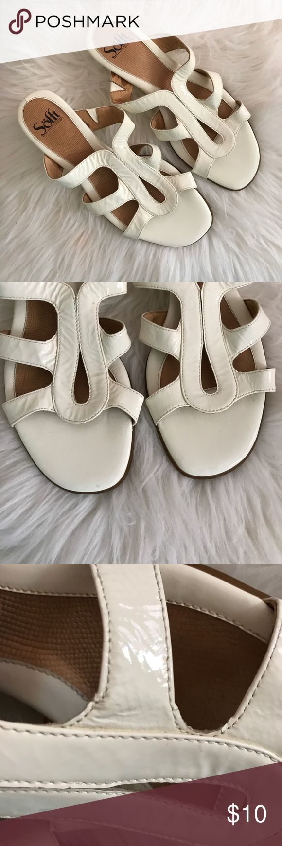 Sofft patent sandals Sofft patent sandals size 7.5 used and tiny flaw as seen in photo. Sofft Shoes Sandals